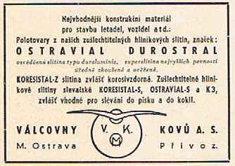 Ve Válcovnách kovů a. s. v Moravské Ostravě se válcoval dural pod obchodním  názvem